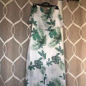 Monstera Leaf Maxi Dress